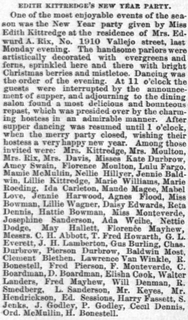 Daily Alta California January 6, 1889.