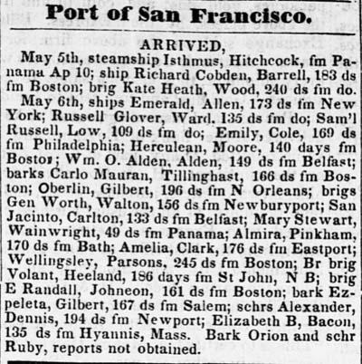 Advertisement 1850.