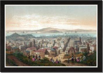 Port of San Francisco 1800s.