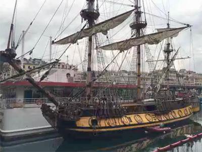 Frigate Shtandart. Genoa Maritime Museum.
