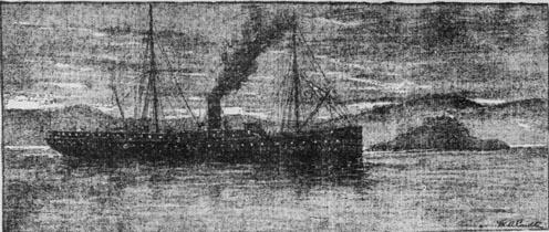 SS Moana Oceanic Steamship Company 1897.