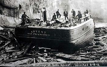 The San Francisco schooner Advent.