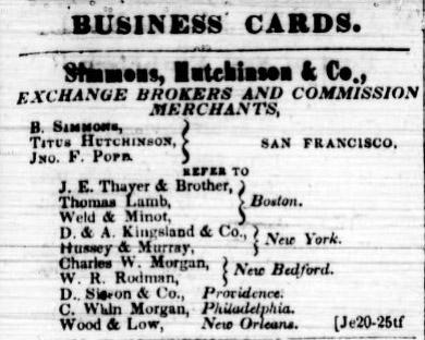 Charles W. Morgan in San Francisco July 19, 1849.