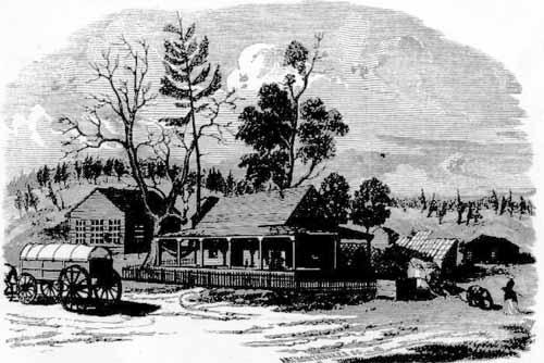 Residence of Lola Montez, 1854.